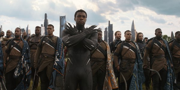 Black Panther and Wakanda army in Avengers: Infinity War