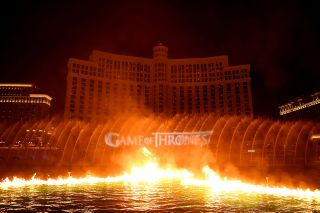 HBO, MGM Resorts, and WET Design debuted a Game of Thrones production at the Bellagio's Fountains.