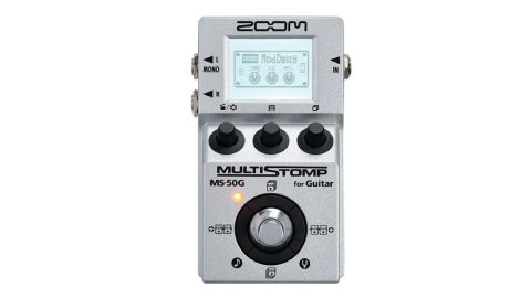 The MS-50G is a pedal packed with 55 different sounds (47 effects and eight amp models), six of which can be used simultaneously