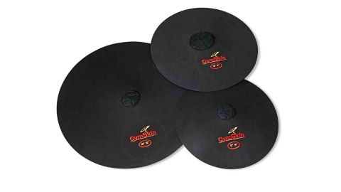 The covers are placed onto the cymbals while still on their stands for easy pack-away
