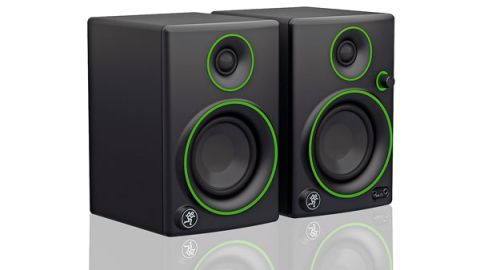 The 50W powered monitors deliver large sound through the 3-inch polypropylene-coated woofer
