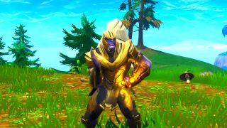 Thanos dances like Napoleon Dynamite.