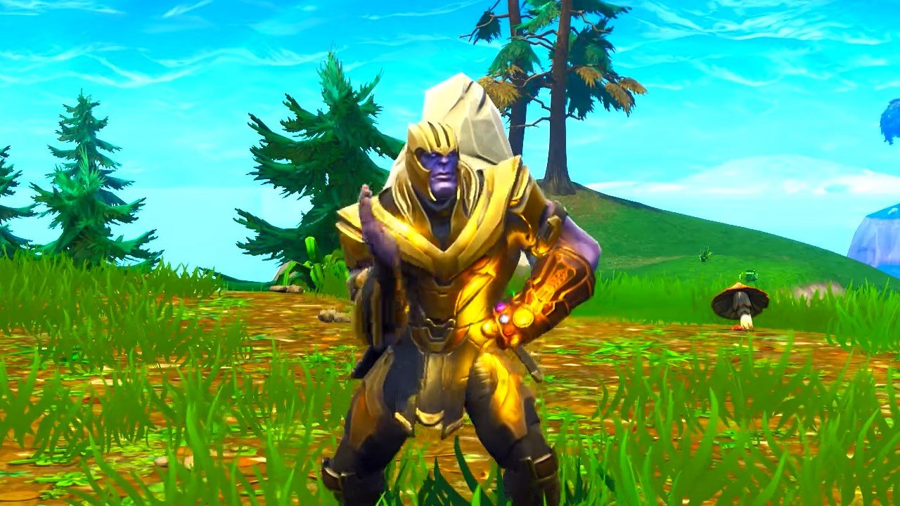 fortnite s dancing thanos meme makes you wonder if marvel really meant to sign off on this - thanos on fortnite season 8