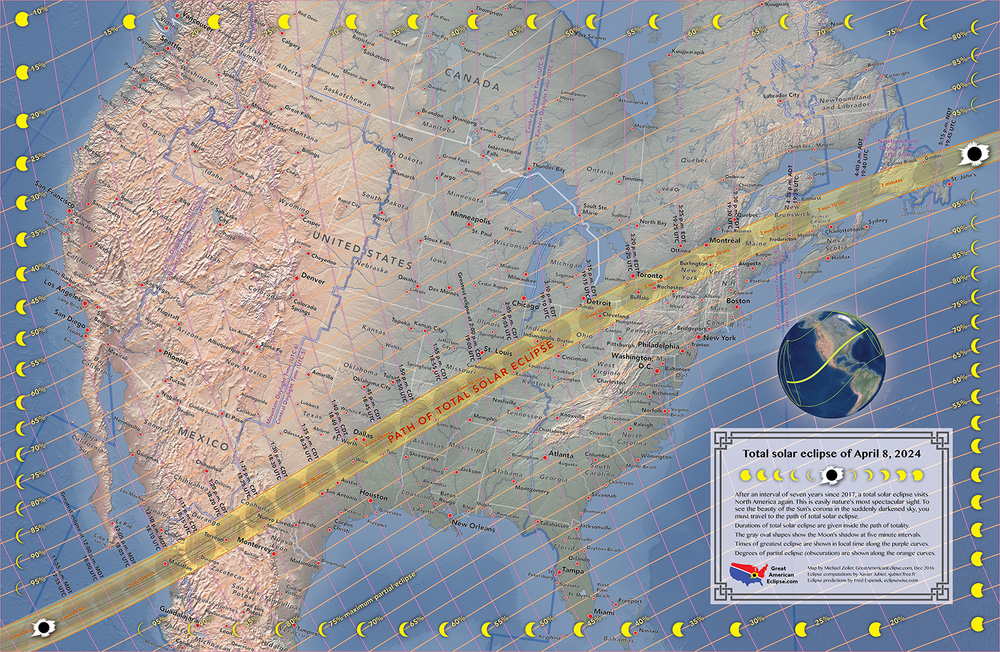 Total Solar Eclipse Of 2024 Here Are Maps Of The Path Of Totality