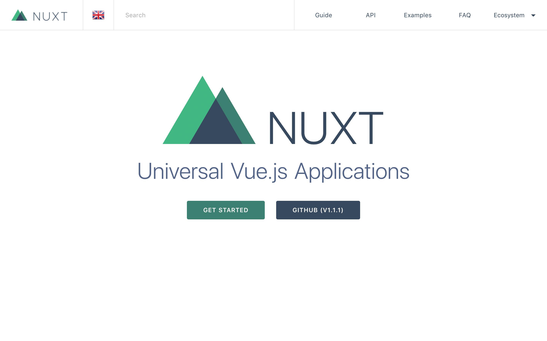 NUXT homepage