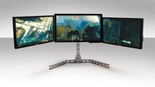 Build a triple screen stand