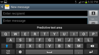 Samsung keyboard autocorrect predictive text