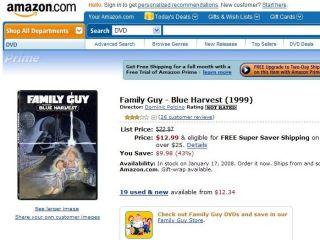Watch Family Guy on Tivo, buy the DVD instantly with Tivo