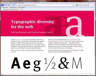Firefox web fonts