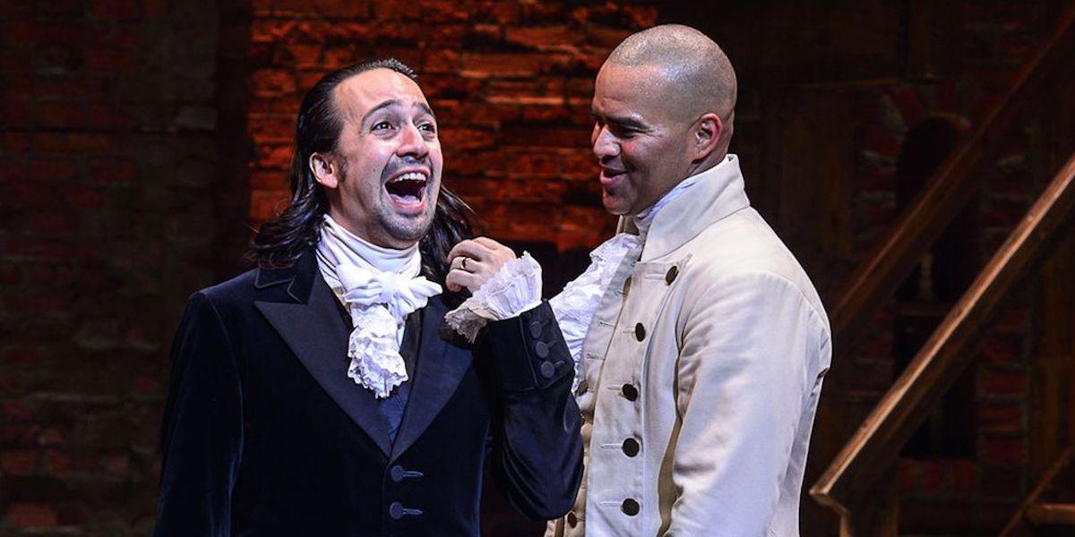 Lin-Manuel Miranda and Chris Jackson in Hamilton