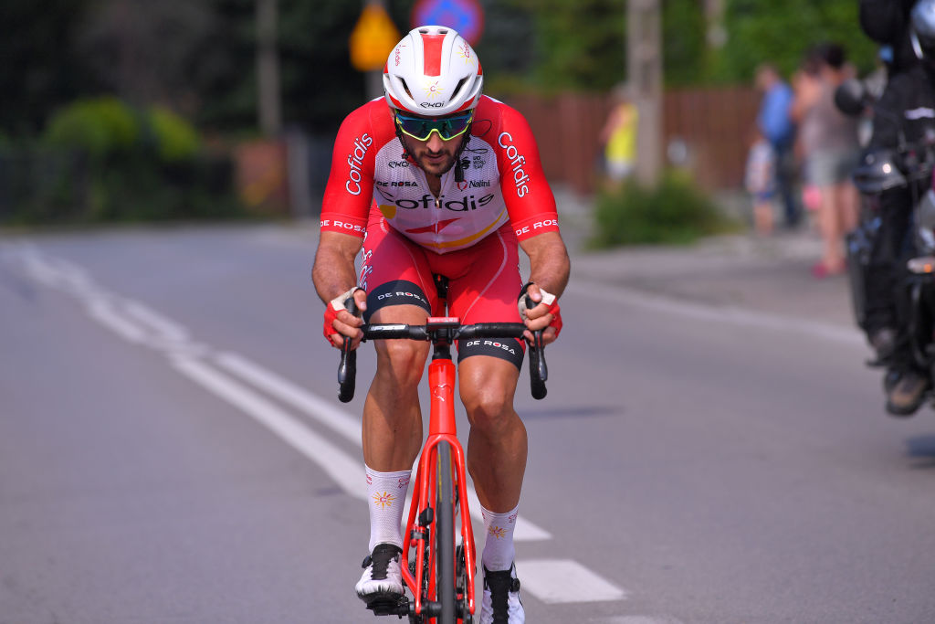 BIELSKOBIALA POLAND AUGUST 07 Nathan Haas of Australia and Team Cofidis Solutions Crdits during the 77th Tour of Poland 2020 Stage 3 a 2031km stage from Wadowice to BielskoBiaa 433m TourdePologne tdp20 on August 07 2020 in BielskoBiala Poland Photo by Luc ClaessenGetty Images
