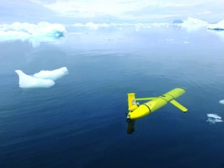 Scientists will deploy two robot gliders like this one to study iceberg A-68a.