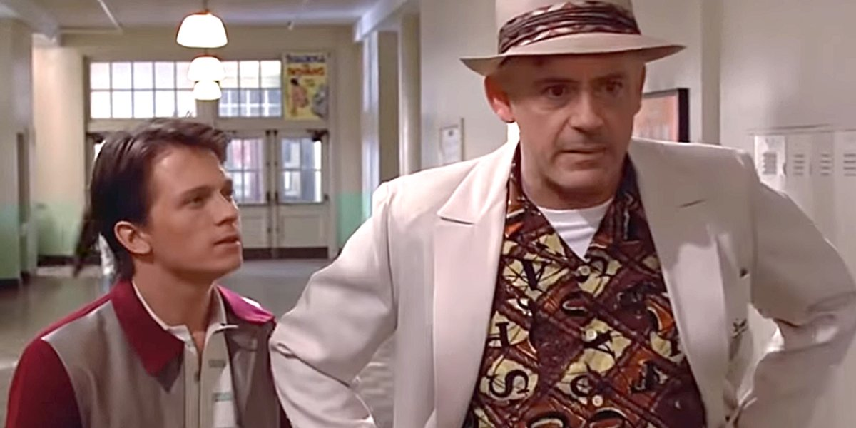 Tom Holland and Robert Downey Jr. in Back to the Future deepfake YouTube video