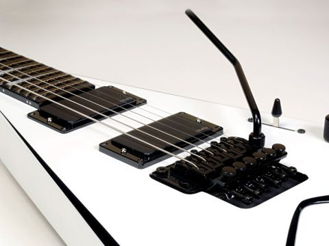 Twin EMGs? Check. Floyd Rose vibrato? Check. Heavy metal? Yes indeed.