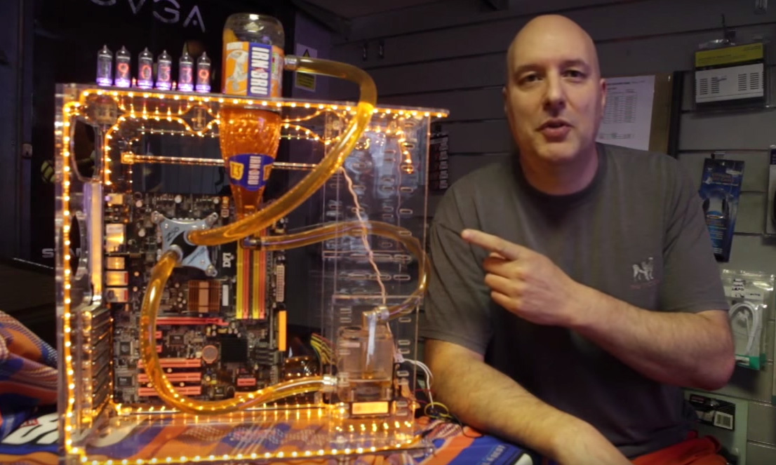 Scottish man creates an 'Irn Bru' water cooling system