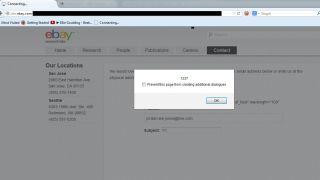 eBay XSS vulnerability