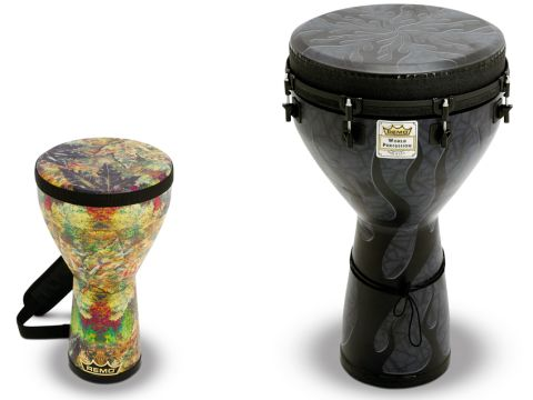 Festival (left) and Designer Series Djembes have a reassuring chunky quality