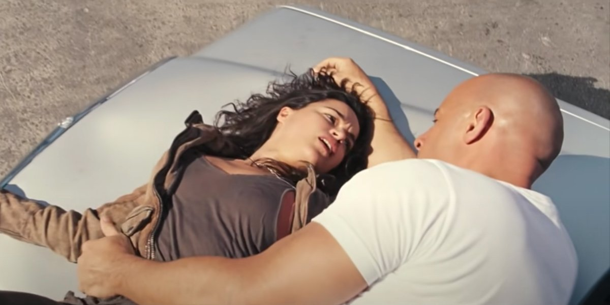 Michelle Rodriguez and Vin Diesel in Fast and Furious 6
