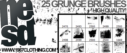 free Photoshop brushes: grunge