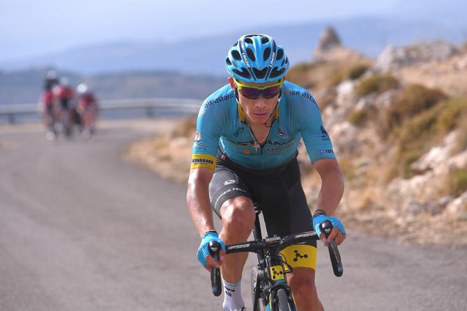 Miguel Angel Lopez attacked the GC favourites on the final climb of the Vuelta a España's 14th stage