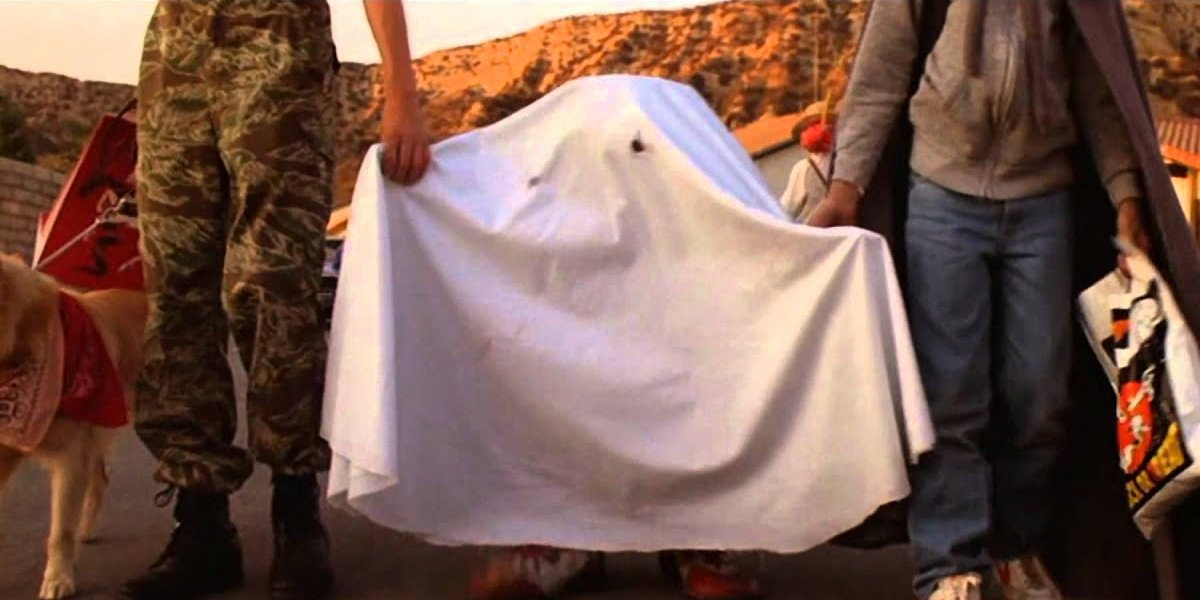 The ghost costume in E.T. the Extra-Terrestrial