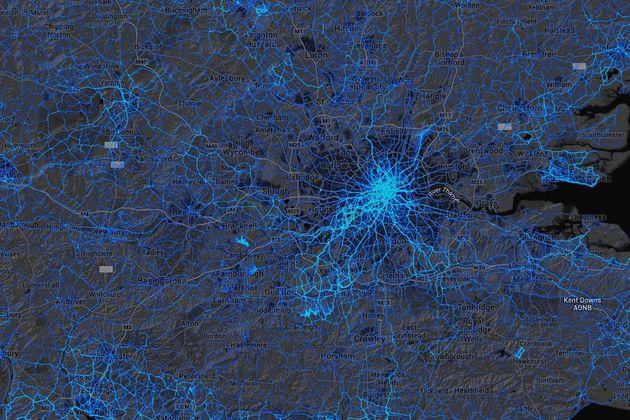 GPS data heatmap