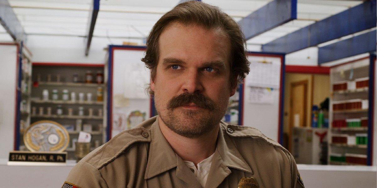 David Harbour as Hopper in Stranger Things.