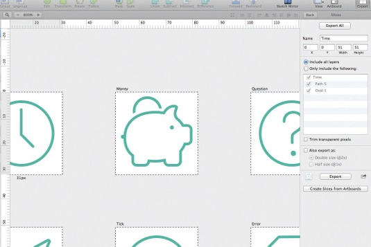 Create a hairline icon set using Sketch