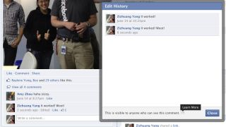 Now you can edit Facebook comments