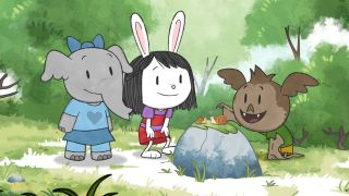 Ari, Olive and Elinor in Animal Town.