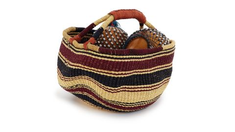 This is a 12-piece set supplied with its own hand-made, hand-woven basket