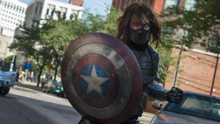 """Sebastian Stan as the Winter Soldier in """"Captain America: The Winter Soldier."""""""