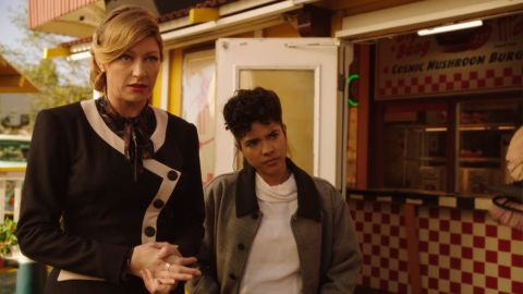 """Jes Macallan and Lisseth Chavez in """"Meat: The Legends"""""""