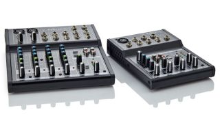 Aside from the XLR mic input, all the Mix5's (right) input connections are on TRS jacks for balanced and unbalanced connectivity