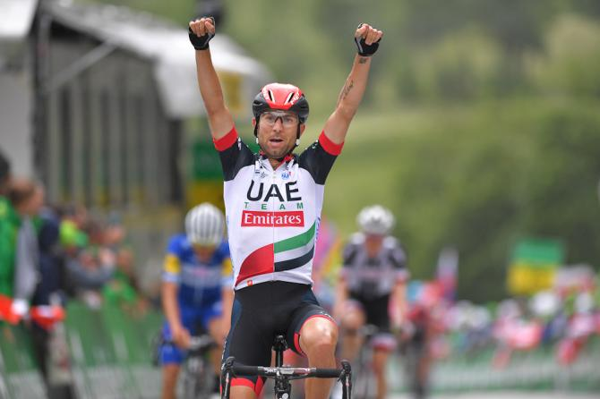 Diego Ulissi (UAE Team Emirates) wins stage 5 at the Tour de Suisse