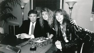 Donald Trump with Precious Metal's Janet Robin and Leslie Knauer