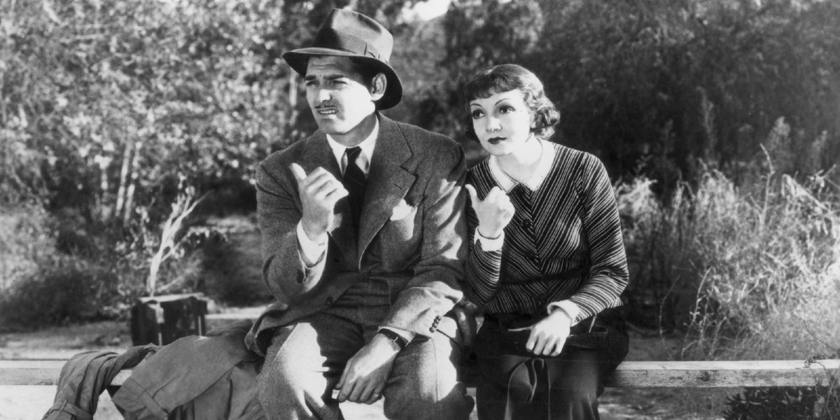Clark Gable and Claudette Colbert in It Happened One Night