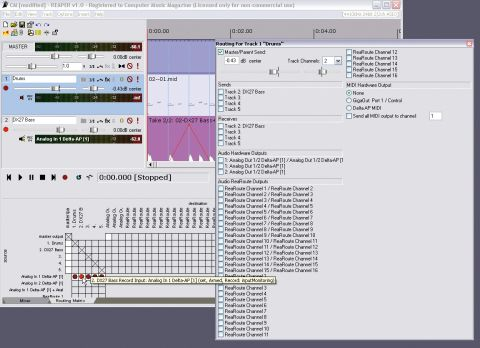 Few software studios offer the sort of flexible signal routing found in Reaper.
