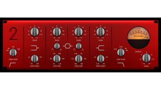 The Red 2 EQ is a six band design emulating the original Focusrite hardware