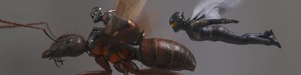 Ant-Man and the Wasp flying through the air in Ant-Man and the Wasp
