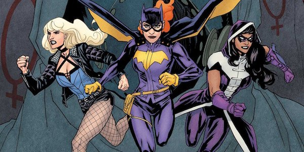 Black Canary, Batgirl and Huntress as the Birds of Prey