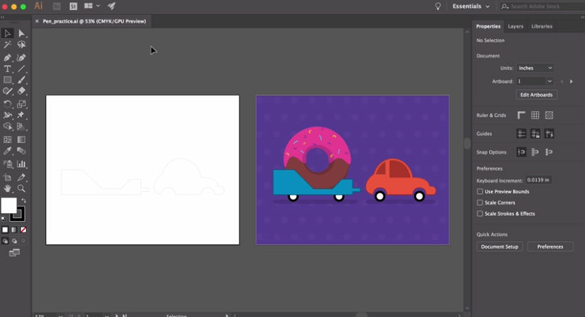 Illustrator tutorials: Pen tool