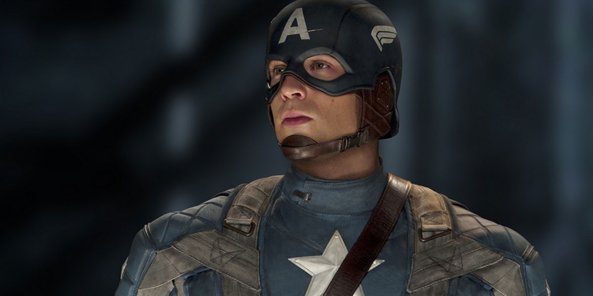 Chris Evans image from 2011's Captain America