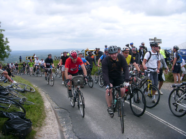 Top of Ditchling Beacon, London to Brighton 2010