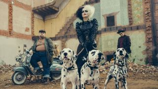 Cruella live-action still shot.