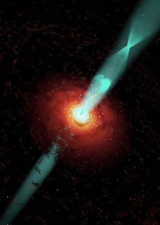 Powerful Black Hole Jet Explained
