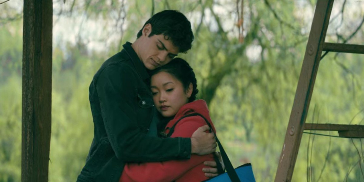 Peter Kavinsky and Lara Jean in To All The Boys I've Loved Before: P.S. I Still Love You.