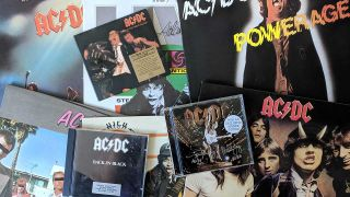 AC/DC vinyl and CDs