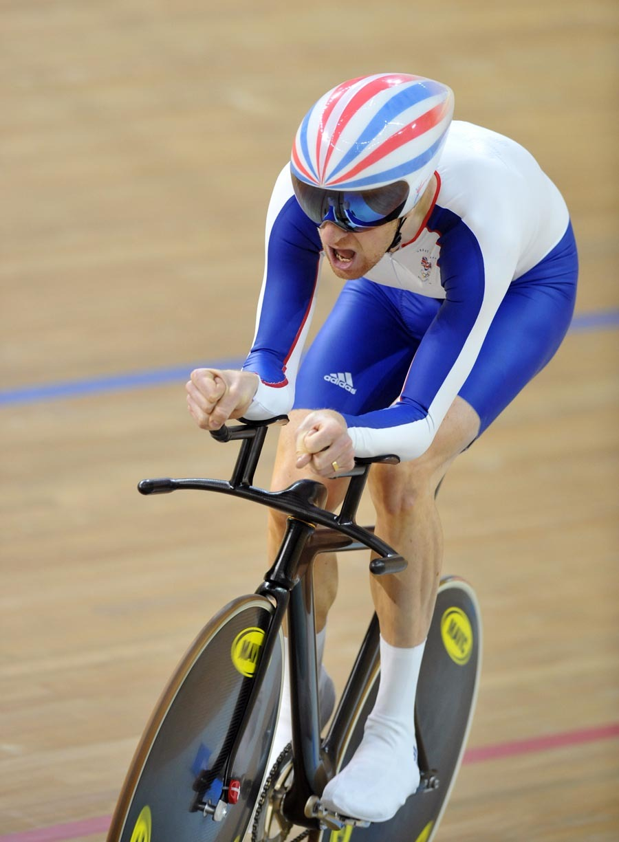 Bradley Wiggins qualifying men's individual pursuit 2008