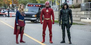 arrow-verse elseworlds crossover supergirl the flash green arrow the cw